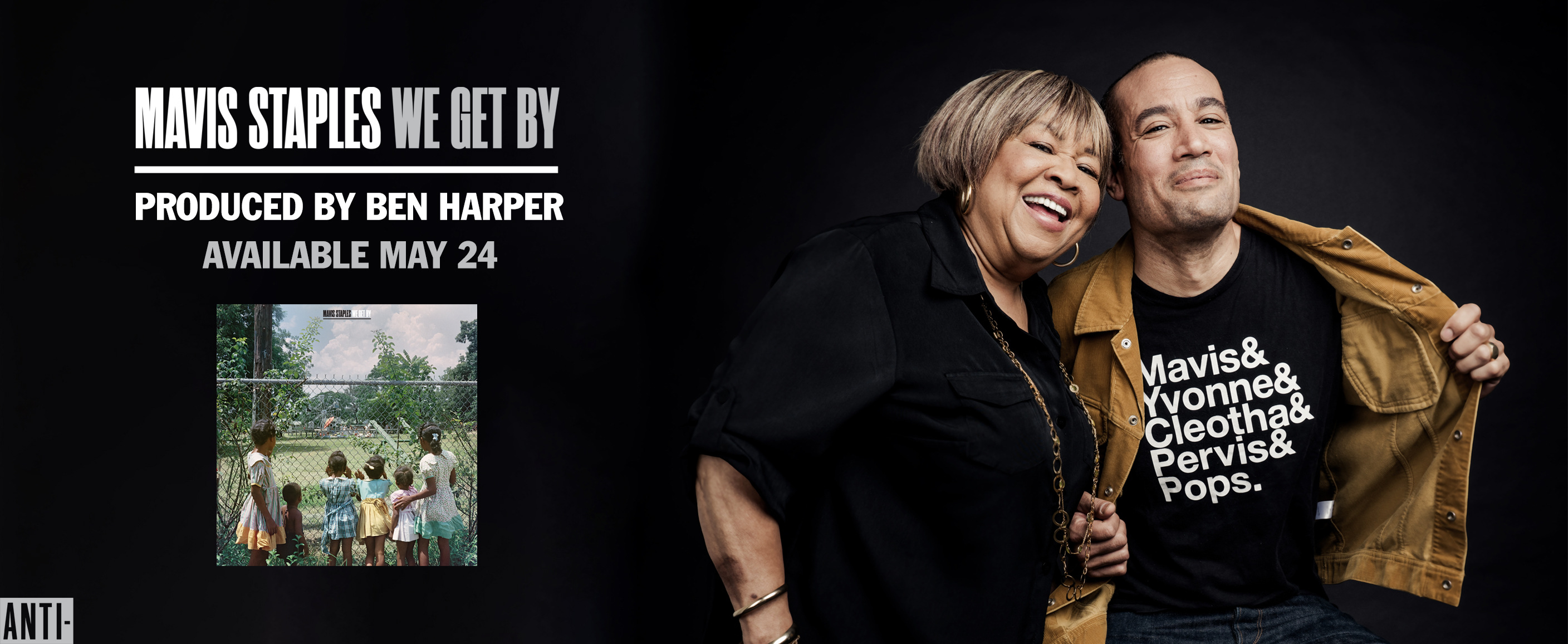 Mavis Staples - We Get By - Produced by Ben Harper - Available May 24